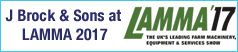 J BROCK & SONS at LAMMA 2017