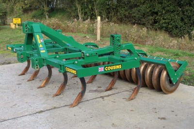 COUSINS 4m 11 Tine Cultivator (see Video)